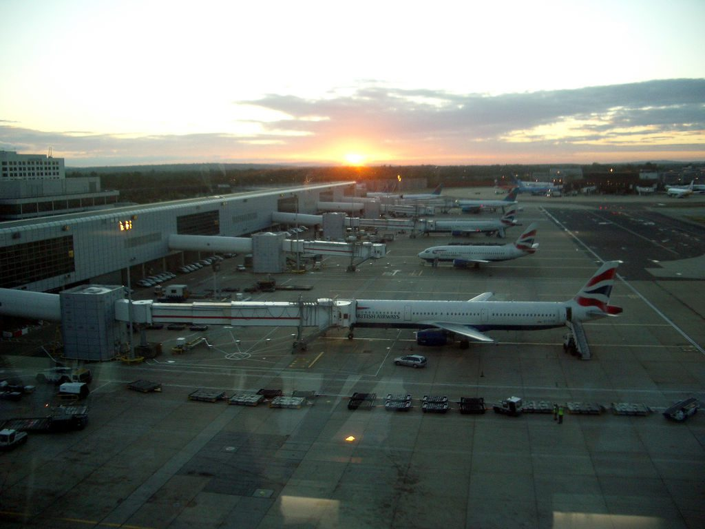 Gatwick Airport, way too early in the morning